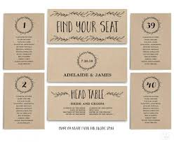 Wedding Seating Chart Template Printable Header Signs And
