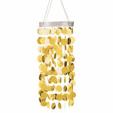 gold hanging circle chandelier decoration