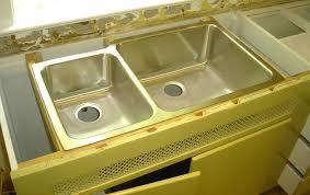 undermount sink installed on brackets extra long kitchen sink installation clips elkay extra long kitchen sink