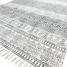 black and white rugs off cotton block print area chic accent rug 3 x 5 to black and white rugs