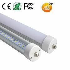 4/10X 8'FT T8 FA8 <b>Single Pin</b> LED <b>Tube</b> Light Fixture Clear Milky ...