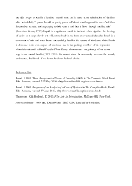 research essay american beauty and freud    s three essays       the