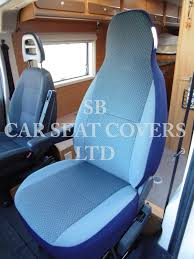 talbot express motor home seat cover chevron blue