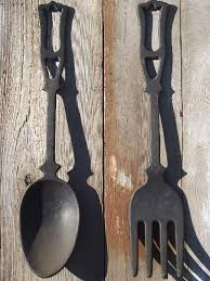 valuable fork and spoon wall art home remodel large vintage kitchen black cast iron utensils big decorative dining room on large kitchen wall art with extraordinary idea fork and spoon wall art ishlepark