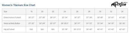 Dolfin Swimwear Size Chart Dolfin Womens Titanium Knee Suit