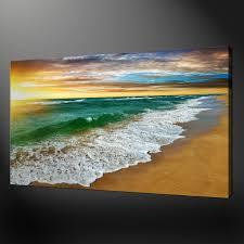 sandy beach quality premium canvas print picture wall art design free uk p p