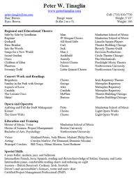 Musical Theatre Resume Template Google Docs Audition Word Ideas Free