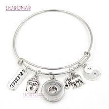 10pcs whole interchangeable snap jewelry inspirational yingyang buddha charms bracelets bangles for women gifts