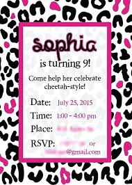 Pink Zebra Print Invitations New Customize 2 Baby Birthday