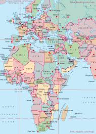 maps of europe middle east africa region  emea flags maps