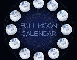Lunar Chart 2015 2018 Full Moons And New Moons