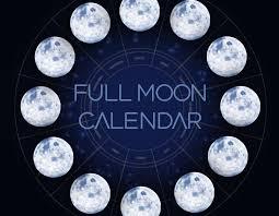Full Moon Chart 2019 2018 Full Moons And New Moons