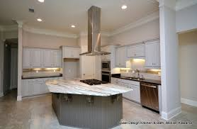 the primary cabinet color in the kitchen is fog and the island color is graphite we love the look of the over sized island it opens up the floor plan and