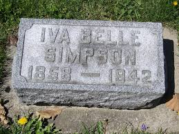 Iva Belle Blew Simpson (1858-1942) - Find A Grave Memorial