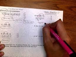 algebra 1 multi step equations worksheet worksheets