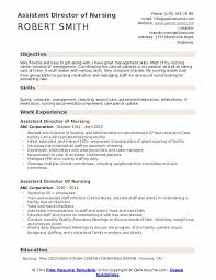 Utilization Review Nurse Resume Assistant Director Of Nursing Resume Samples Qwikresume