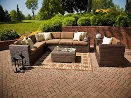 charming outdoor furniture design. charming outdoor furniture design compact stoned floor tile background decorated with rustic wicker seating area plus