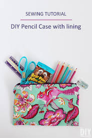 diy pencil case with lining sewing tutorial great sewing project for back to school
