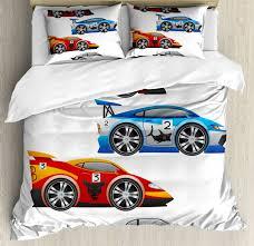 cars duvet cover set with pillow shams formula cars technology print nbggzc2609 bedding sets duvet covers