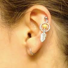 Dream Catcher Helix Earring tiny flower cartilage earring tragus from sayukeko on Etsy 16