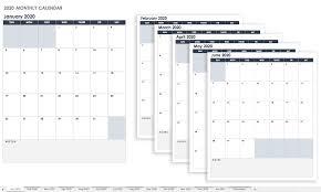 Calendar 2020 Template Free Free Google Calendar Templates Smartsheet