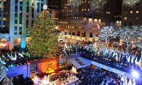 Trump Leaving Christmas Tree Lighting Christmas Comes To New York Rockefeller Lights Up City But