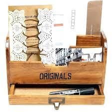 mail sorter for home mailbox organizer wooden office desk paper file letter box storage diy plans