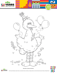Let me help you a little: Free Printable Big Bird Birthday Coloring Page Mama Likes This