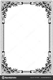 Black And White Greeting Card Delicate Black White Frame Border Design Greeting Cards Other Award