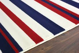 red and white striped rugby navy rug on oriental new blue cream area fashionable