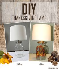 do it yourself thanksgiving lamp before and after image
