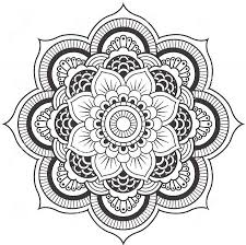 Lotus Flower Mandala Coloring Pages Only Coloring Pages
