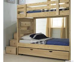 Custom built, solid wood Stackable Bunk Bed with Storage Stairs and Trundle  Bed built to your specifications. Bunk Beds from last a lifetime.