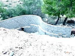 build a cinder block retaining wall cinder block retaining wall drainage concrete block retaining wall cinder