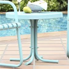 crosley retro metal patio end table in