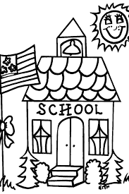 Captivating School House Coloring Pages Preschool To Good School