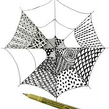Easy Zentangle Patterns Stunning Easy Zentangle For Kids And Adults With Spiderwebs