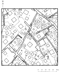Fig 75 plan of a part of the village of bãris al khãrga oasis egypt showing a takhtabush between a shaded and an exposed courtyard