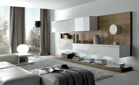 taupe white stylish contemporary living spaces built ins