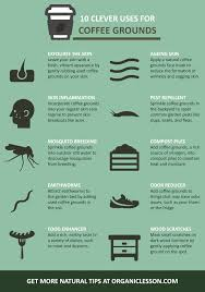 10 uses of coffee grounds infographic