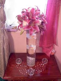 diy tall stargazer lily centerpiece wedding centerpiece cylinder diy flowers lily pink reception stargazer tall white our centerpiece only with tiger