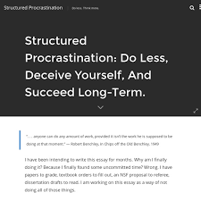 structured procrastination pearltrees