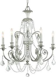 silver and crystal chandeliers cl silver crystal chandelier brushed silver crystal chandeliers
