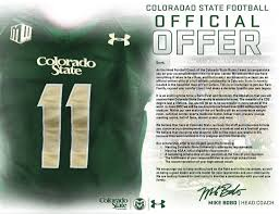 do csu need letter recommendation colorado state football sent out a letter to recruits but misspelled