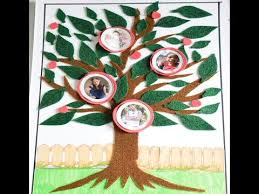 How To Make Family Tree On Chart Paper How To Make Family Tree My Family Tree With Photo Project By Cyrus Kiddie Toys