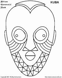 Kleurplaat Masker Beste Van Kleurplaten Afrikaanse Maskers Archidev