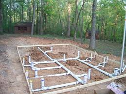 The Under Slab Plumbing For A New Bath House At Camp Cherokee  YelpPlumbing A New House