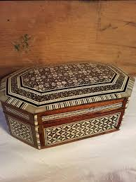 Image Shipping Crate Etsy Gorgeous Pearl Inlay Abalone Wood Trinket Jewelry Dresser Box With Nice Mosaic And Padded Interior