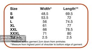 Fruit And Loom Size Chart Daggers And Diamonds Apparel Size Chart