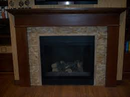 image of glass tile fireplace surround